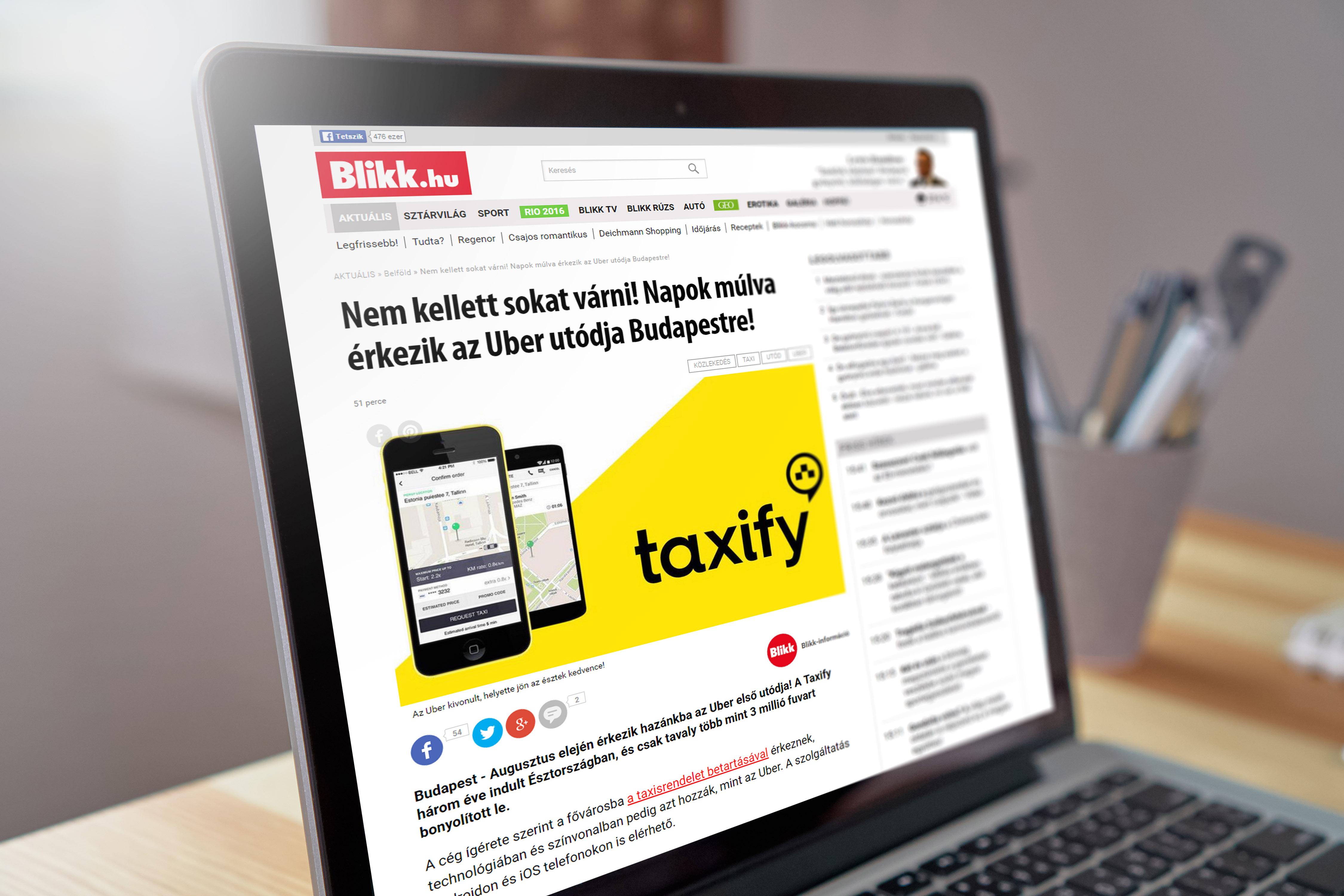 taxify_termek_bevezetesi_kampany